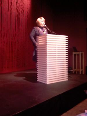 Ordfører Linda B. Randal åpnet seminaret Kirkenes - en by i