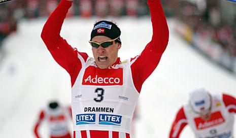 Børre Næss vinner WC- sprint i Drammen