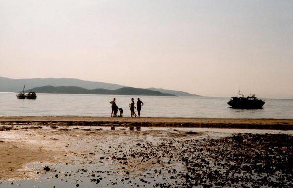 Sommeridyll på stranda på Myrseth.