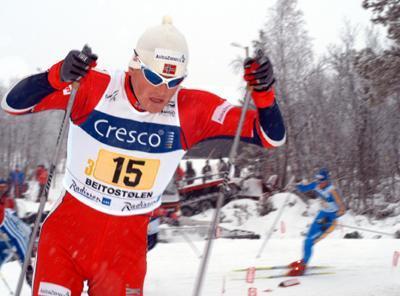 Jan Egil Andresen under verdenscupstafetten på Beitostølen
