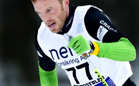 Anders Aukland under 10 km klassisk pŒ Beito under den nasjonale Œpningen 2008