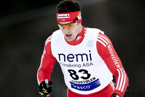 Dario Cologna under 10 km klassisk pŒ Beito under den nasjonale Œpningen 2008